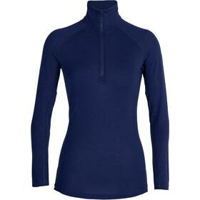 Icebreaker 150 Zone Maglietta A Maniche Lunghe Mezza Zip Donna, blu